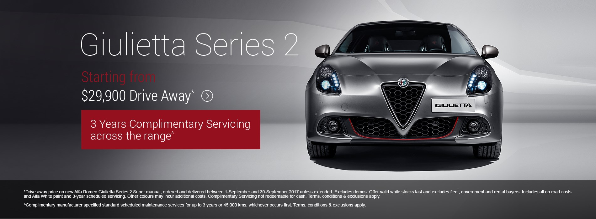 alfa romeo giulietta series 2 $29.9k driveaway offer