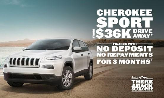 Cherokee Sport $36k Drive Away*