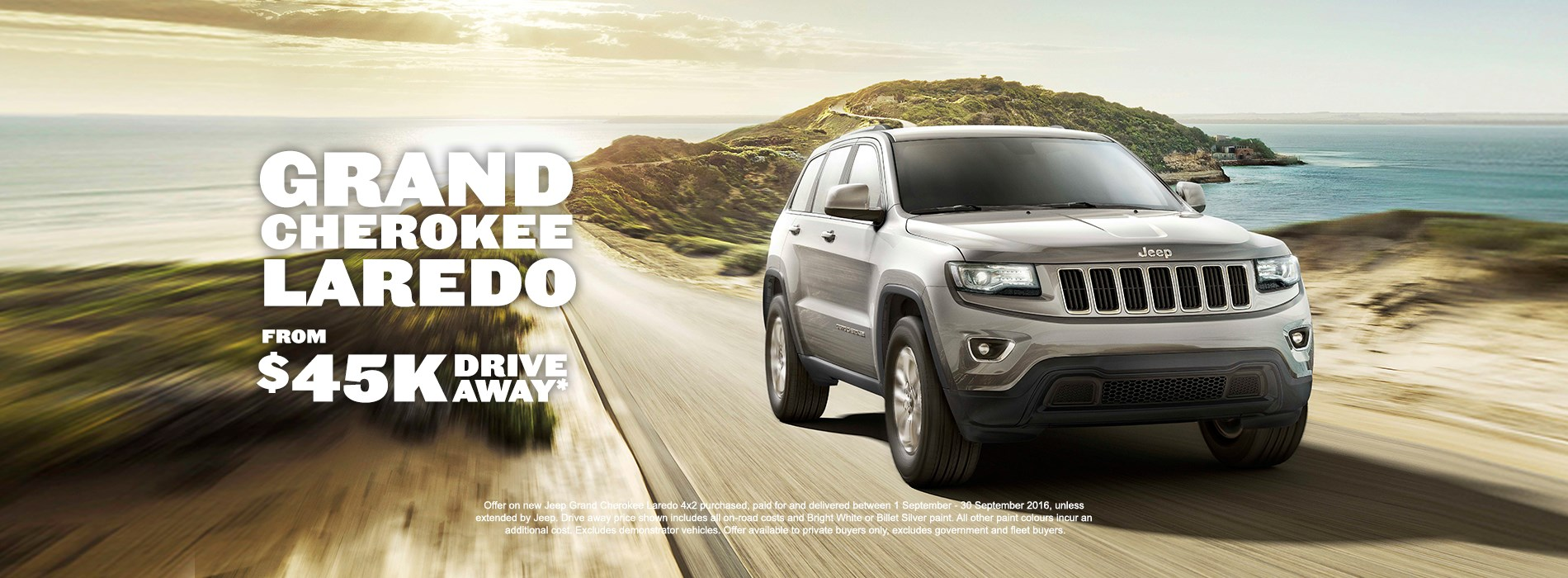 Jeep Grand Cherokee Laredo $45k Drive Away offer