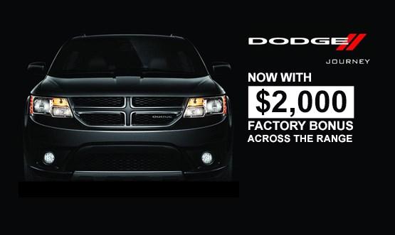 Dodge Journey Black Exterior Factory Bonus Offer